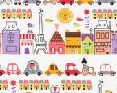 Oui Oui Paris by Susie Ultman Paris City ASD-15729-287 in Sweet for Robert Kaufman