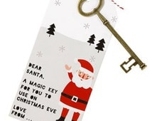 Santa key ~ Christmas Eve magic key ~ Christmas decorations ~ No Chimney ~ Father Christmas ~ night before Christmas ~ festive childrens key