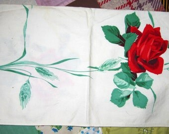 CLEARANCE Rose Napkin or Runner (Dyed)