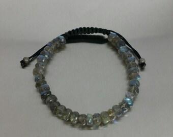 Labradorite Macrame Bracelet (8mm)