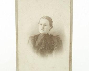 ON SALE Photograph, Photo, Portrait, Women, Vintage, Antique, Cabinet Photo, Collegeville, MN. Black and White