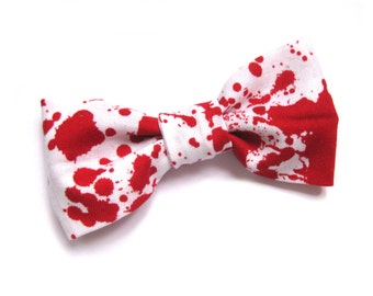 Hair bow clip bloody mess psychobilly blood