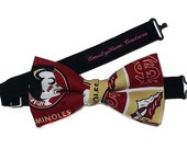 FSU Seminoles Football Bow-tie for Men, Teen, Young Adult.