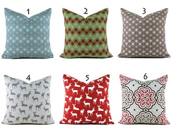 Pillow Covers ANY SIZE Decorative Pillow Cover Christmas Pillows