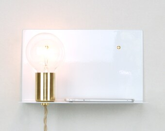 Wall Sconces With Plug In Cords : Plug-in Wall Sconce with Glass Jar
