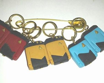 Stitch Markers Star Trek  The Next Generation TNG Picard Data for Knit or Crochet set of 6 knitting wool crochet