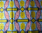 AfricanFabric100%Cotton Super Wax Prints Multicoloured Sold By Yard 151476797348