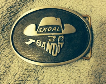 Skoal Bandit Belt Buckle Snuff Pewter Perfect Finish