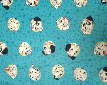 Vintage Bedding Disney 101 Dalmations single twin fitted sheet for Patchwork Quilting Pillow Dress making