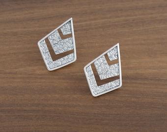Deco Chevron Post Earrings