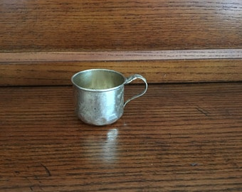 Petite Sterling Silver Plate Baby Cup [F]