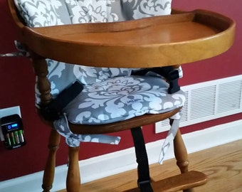 WOODEN HIGH CHAIR Cushion/Pads // Custom Made To Fit Your Chair //