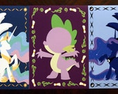 Royalty and the Messanger - High quality 5x7 prints. My Little Pony, Friendship is Magic.