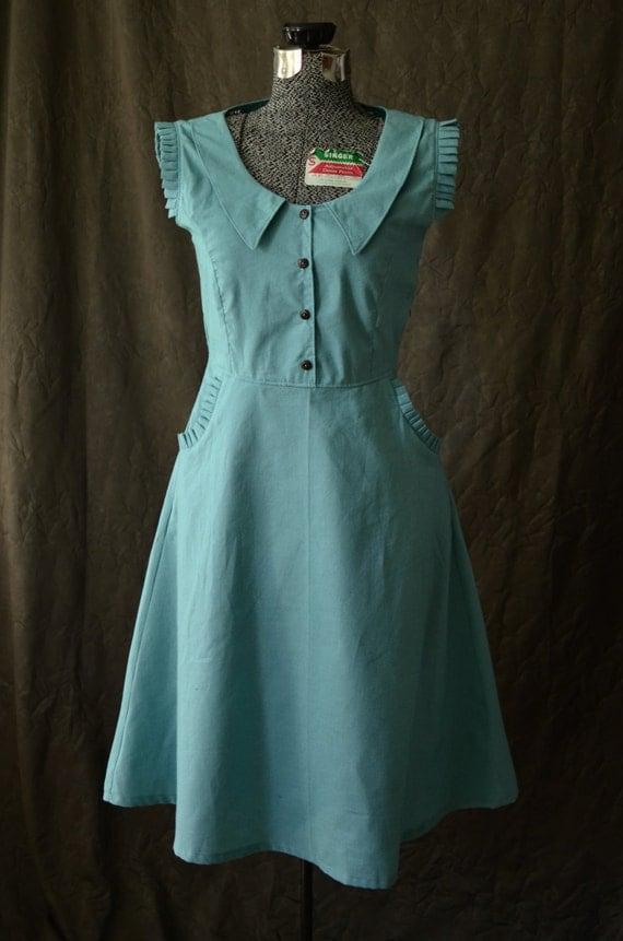 1930s Style Fashion Dresses Dress / 1930s Dress / Peter Pan Collar Dress / Summer Dresses for Women / Retro Dress / Cute dresses / Vintage Dress / 1930s Dress / Pretty  AT vintagedancer.com