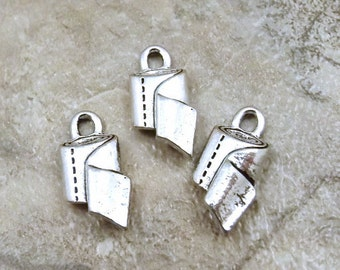 3 Pewter Toilet Paper Charms -  0053