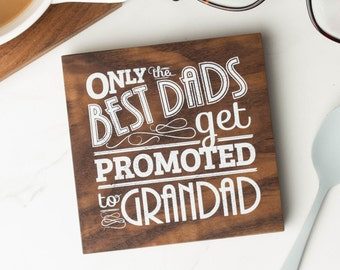 Grandad Quote Wood Coaster