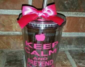 Teacher Gift - Keep Calm and Pretend It's on the Lesson Plan - Teacher Gifts - Teacher Appreciation Gift - Personalize with Name For Free