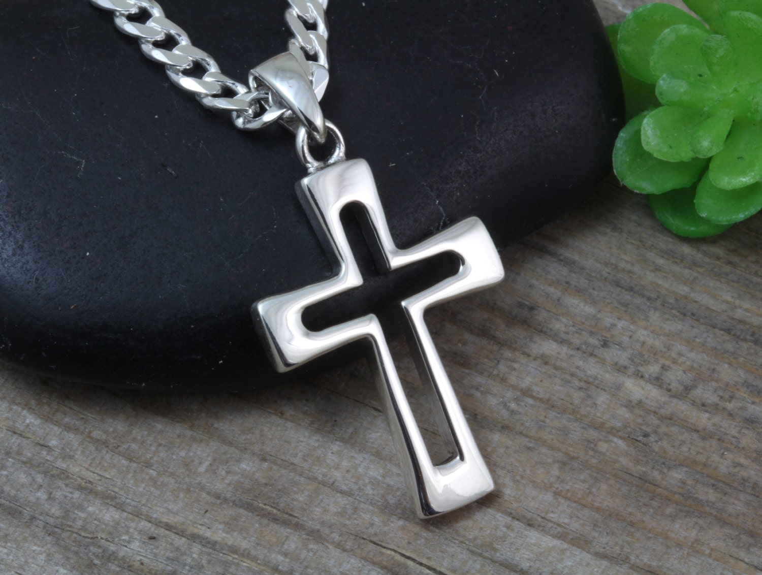 sterling silver cross necklace small cross for mens mens. Black Bedroom Furniture Sets. Home Design Ideas
