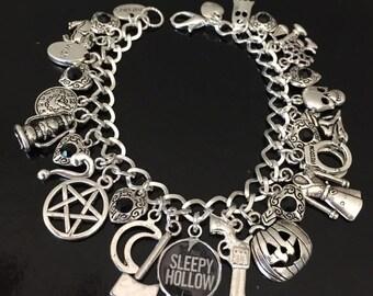 SALE Sleepy Hollow Charm Bracelet, Headless Horseman, Halloween, Tv fandom