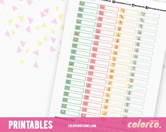 BEAUTY, spa, hair nails Printable Planner Stickers Erin Condren Happy Planner Inkwell Plum Paper Instant Digital Download