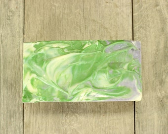 All Natural Goatsmilk Artisan Bulk Soap Loaf, Spearmint and Lavender Essential Oils,Vegan