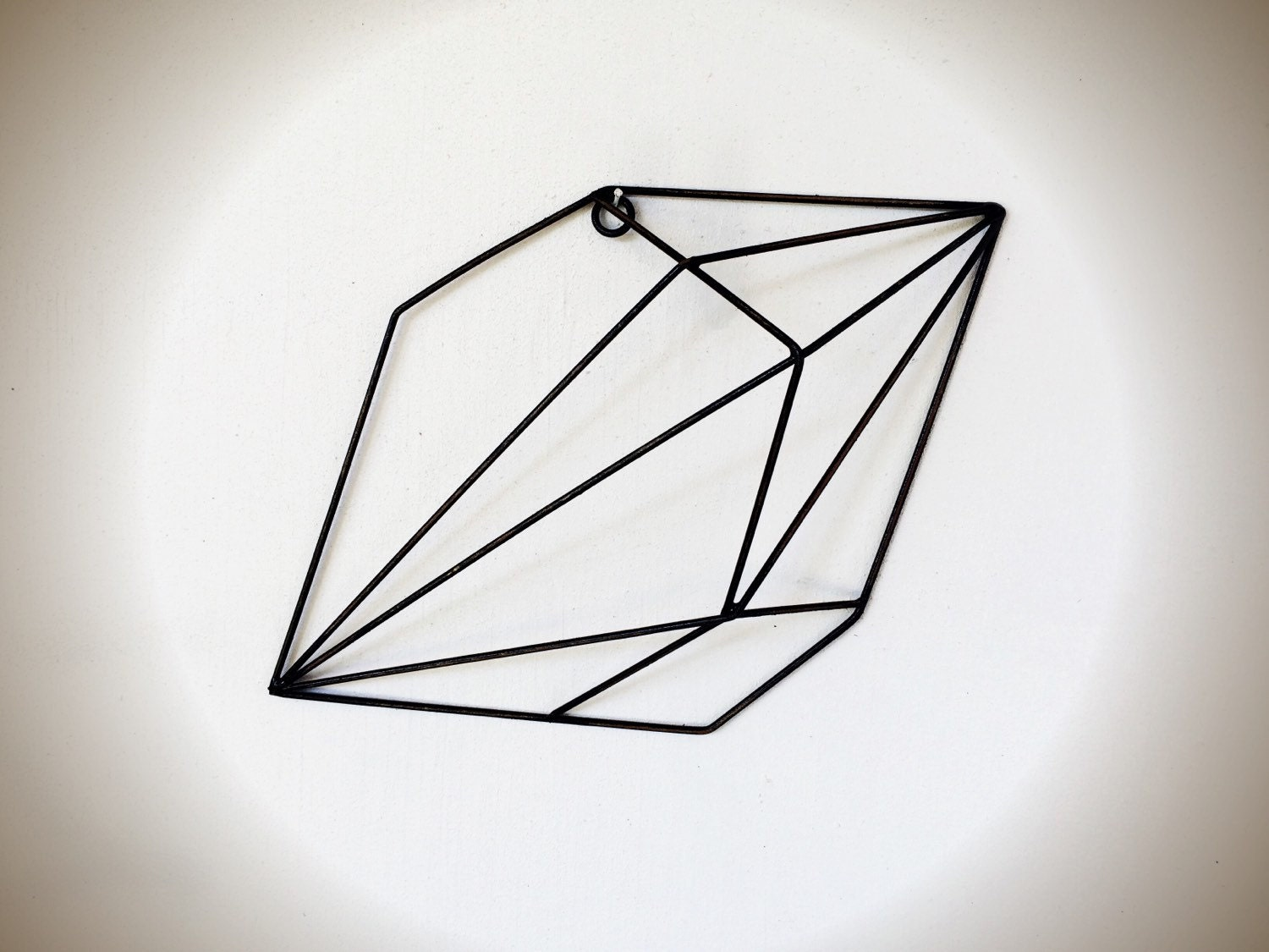 Geometric Metal Wall Decor : Bold d geometric metal crystal wall art black by