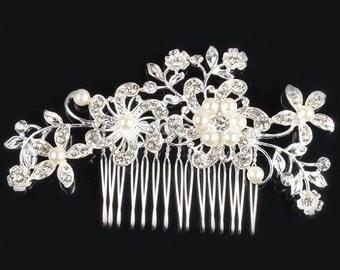 Tiara Hair Comb,Bride Wedding Haircomb Accessories,Crystall Comb, sparkling