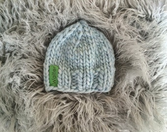 Sky Blue Knit Baby Hat