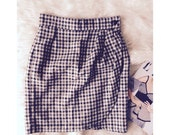 vintage tweed wrap over skirt - so pretty