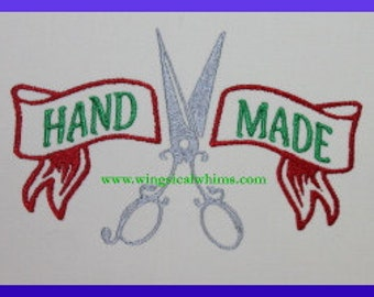 Scissor Hand Made  Digitized Machine Embroidery Design