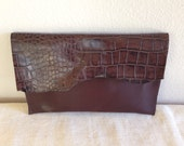 Hillary's Croc Embossed Envelope Clutch