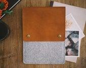 """iPad Air 2 Sleeve, iPad Air 2 Case, suits iPad Air, leather, felt, """"Courier"""""""