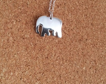 Elephant necklace Elephant Jewelry Elephant Necklace in Sterling Silver Elephant gift Silver necklace Elephant Elephant charm