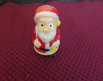 Plastic Wind-Up Santa Toy