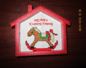 Merry Christmas Rocking Horse Christmas Tree Ornament