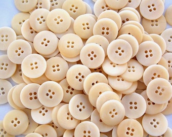 195 Ivory Tan Buttons  New! 4 Button Holes