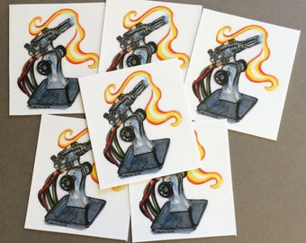 Bethlehem Glassblowing Torch vinyl sticker set - 6pc