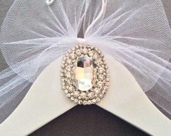 Jeweled Bridal Hanger, Personalized Wedding Dress Hanger,  Bridal Shower,