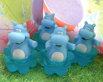 Hippo Squirties / Hippopotamus Soap Toy Squirties