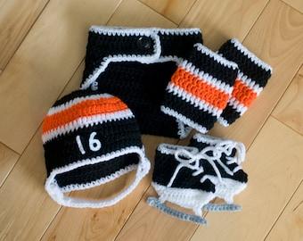 Free Crochet Pattern For Baby Hockey Helmet : Unique crochet hockey socks related items Etsy