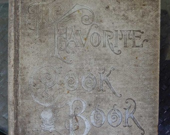 Favorite Cook Book Complete Culinary Encyclopedia Grace Townsend 1894