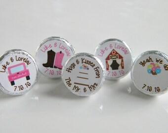 Wedding Favors - Personalized Barn Wedding Hershey Kisses - Wedding Hershey Kisses - Bridal Shower Favors Hershey Kiss Stickers Barn
