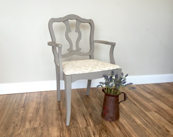 French Chair - Occasional Chair - Vintage Furniture - Shabby Chic Chair - French Country