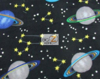 Polar fleece fabric etsy for Solar system fleece fabric