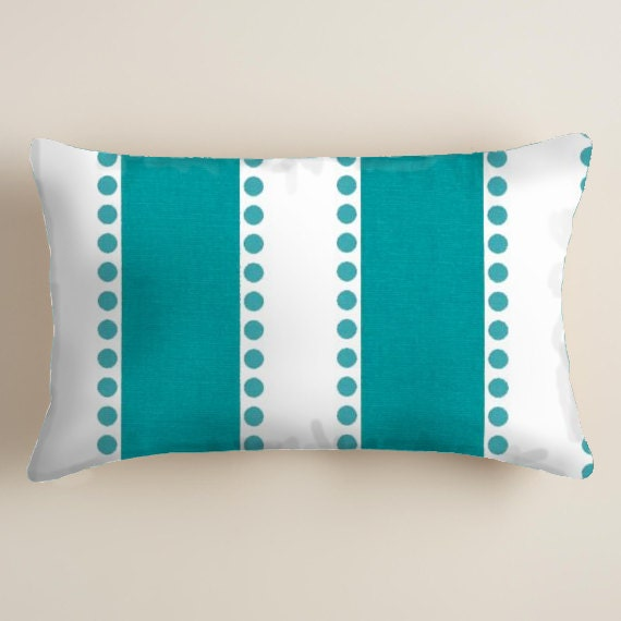 Turquoise Pillows Blue Pillows Lumbar Decorative Throw