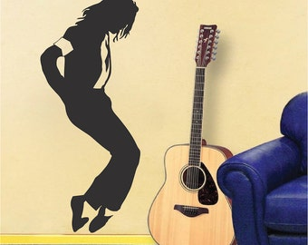 Michael Jackson Wall Decal, Michael Jackson Wall Vinyl, Celebrity Singer Wall Decor, Iconic Singers Wall Decal, Dancing Wall Sticker, a81