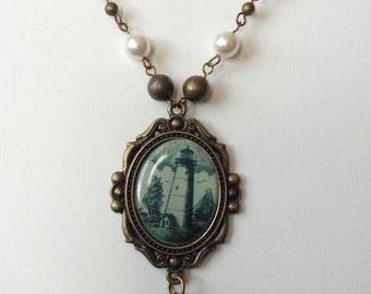 Brass Light House Necklace