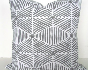 Gray PILLOW Cover Gray Throw Pillows Grey Pillow Covers GRAY WHITE Throw Pillows 16x16 18 20 .All Sizes. Grey Pillow shop Home Decor