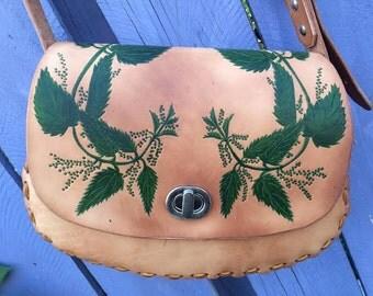 Medium Hand Tooled Leather Bag