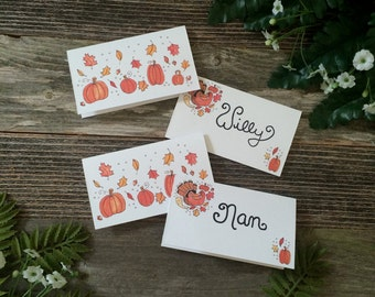 Turkey Time Thanksgiving Place Cards